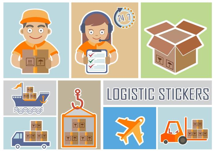 Delivery and Logistic Stickers