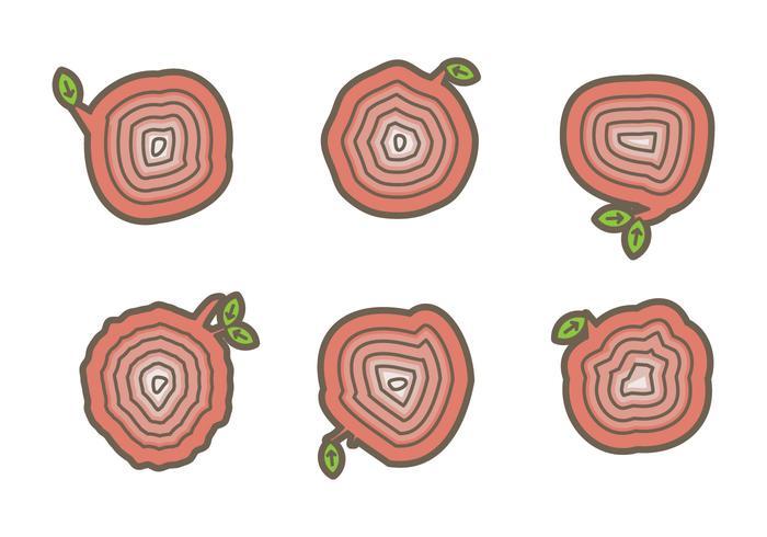 Free Tree Rings Vector Illustration #6