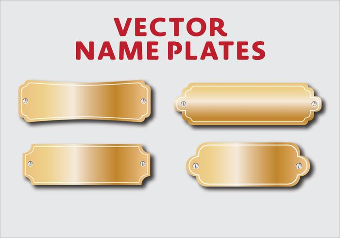 Vector Placas Nombre