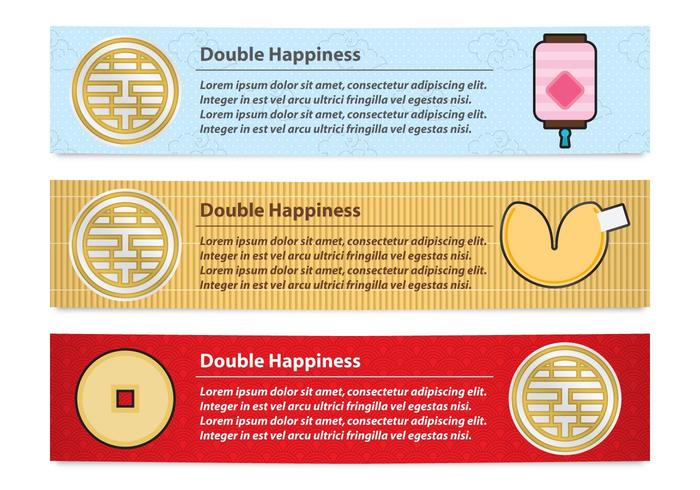 Double Happiness Banners