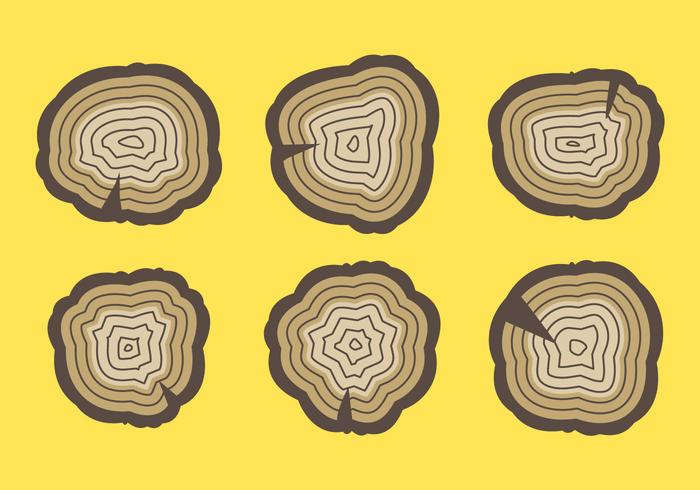 Free Tree Rings Vector Illustration #7