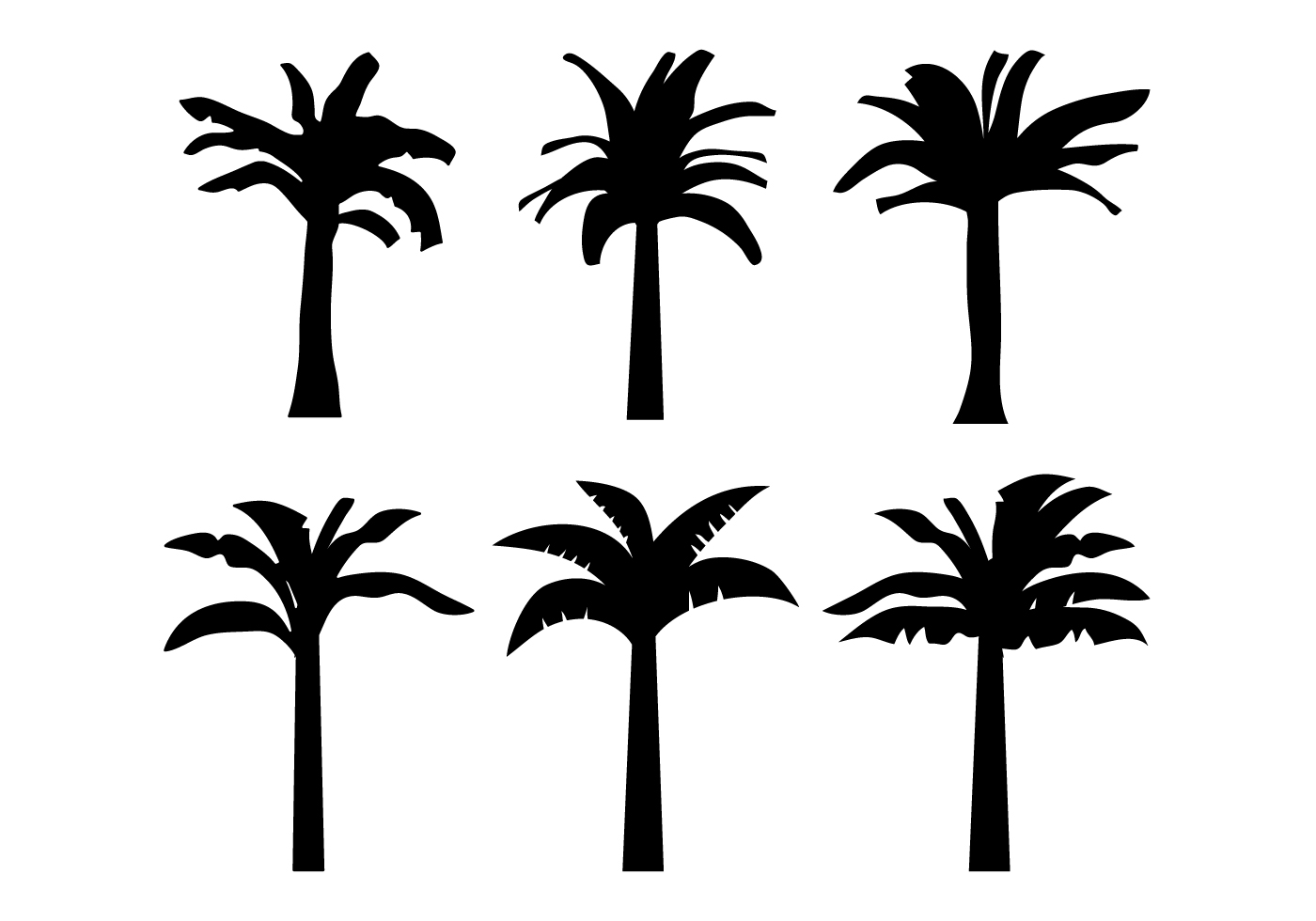 Banana Tree Vector - Download Free Vector Art, Stock ...