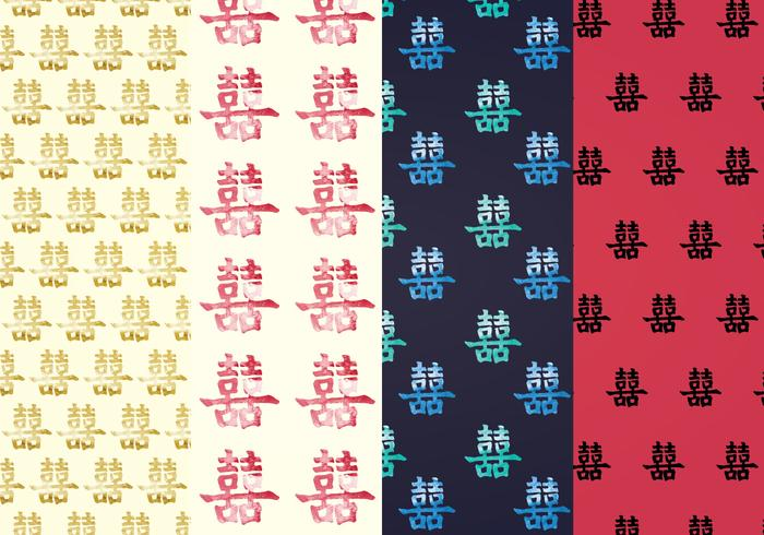 Double Happiness Vector Patterns