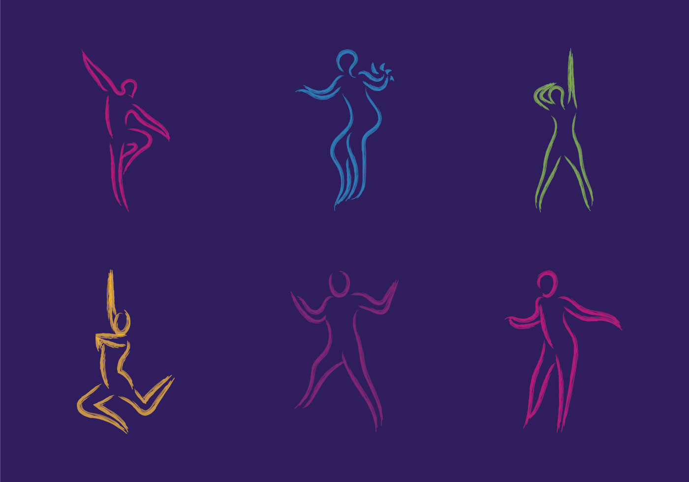 Download Free Vector Art Stock: Free Zumba Vector Illustration