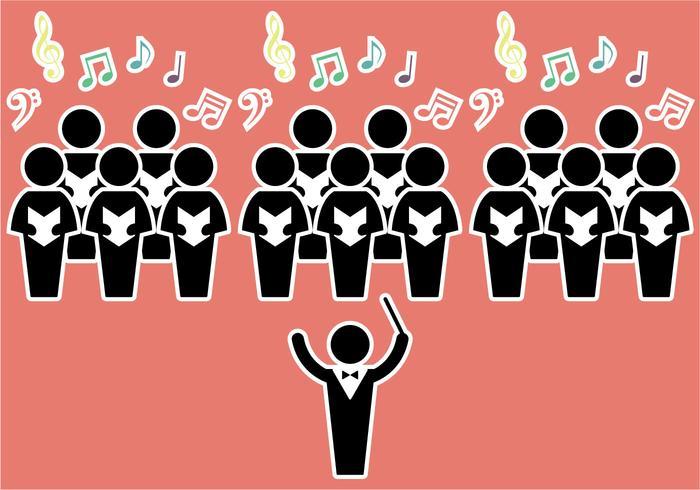 Ilustração vetorial livre do coro