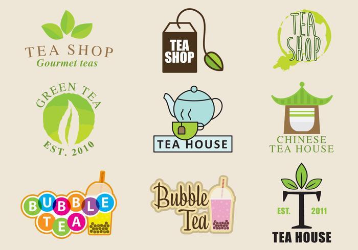 Logotipos de la tienda de té