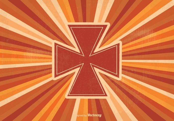 Ilustración retro de la cruz maltesa
