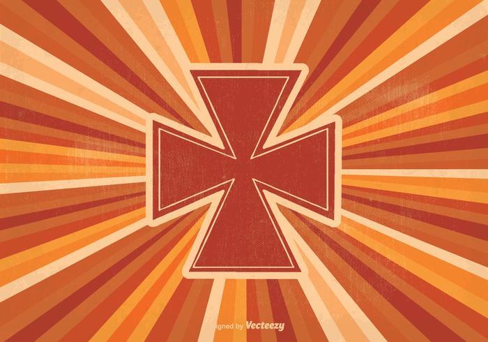 Retro Maltese Cross Illustration