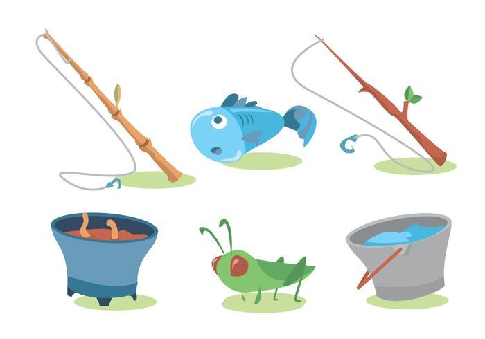 Fishing Rod Vector Set