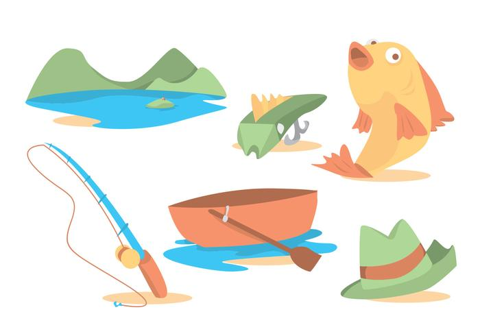 Fishing Rod Vector Set