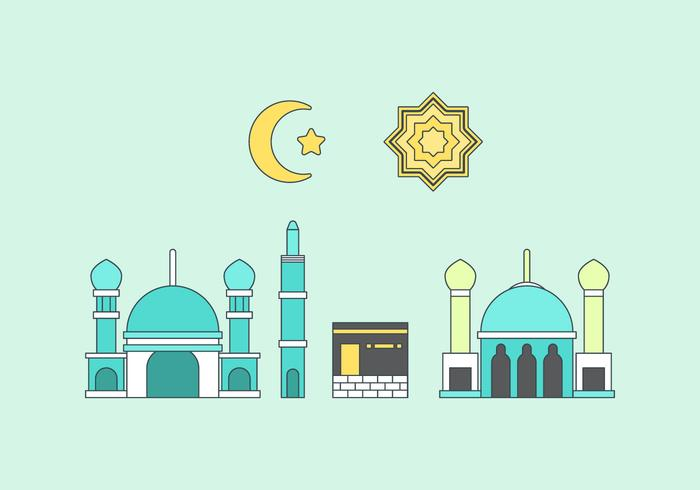 Free Makkah Vector Illustration #1