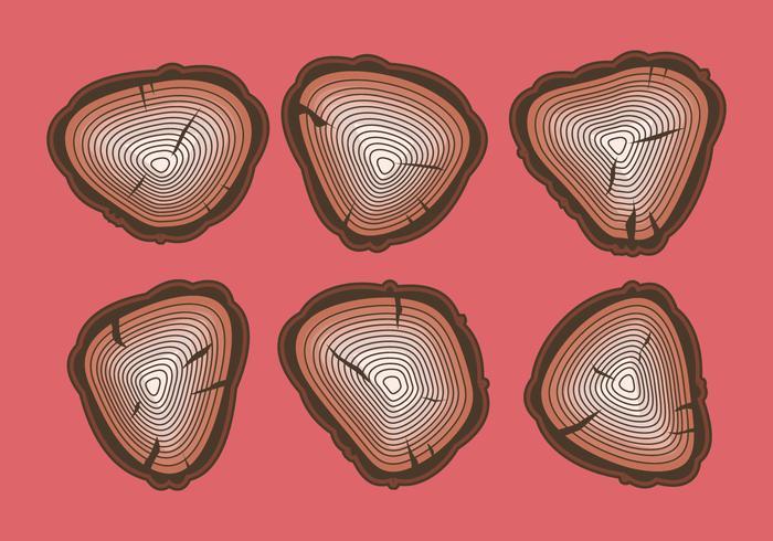 Free Tree Rings Vector Illustration #14
