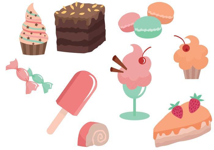 Vetores grátis de padaria e de sobremesa