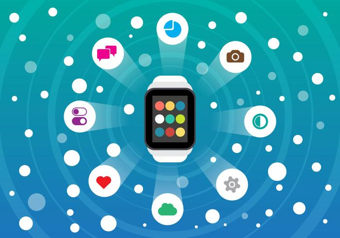 Free Smart Watch et Smartphone Vector