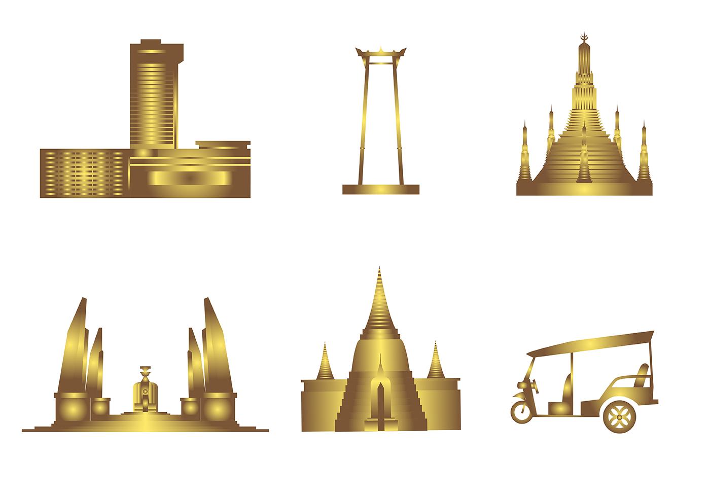 Free bangkok vector download free vector art stock for Clipart gratis download