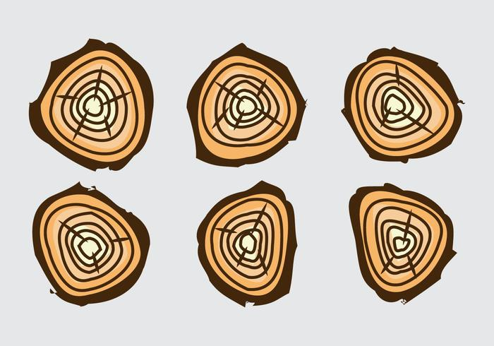 Free Tree Rings Vector Illustration #17