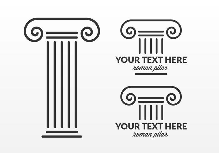 Gratis Roman Pillar Logo Design Vector