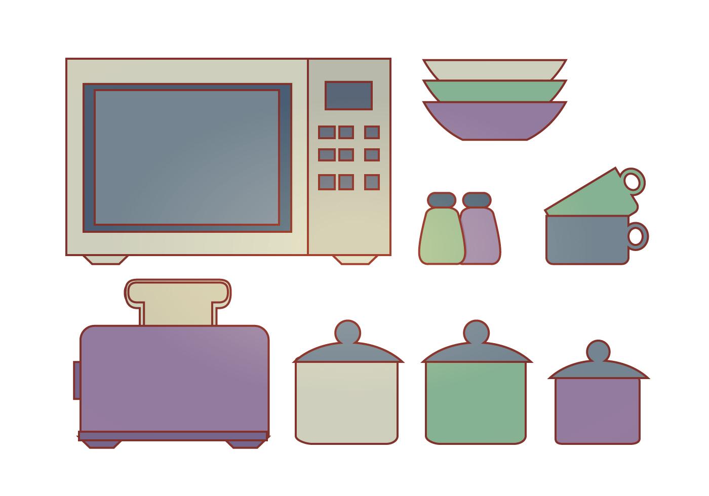 vektor k chenelemente kostenlose vektor kunst archiv. Black Bedroom Furniture Sets. Home Design Ideas