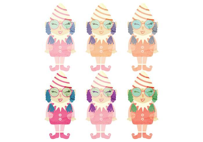 Watercolor Vector Elfs
