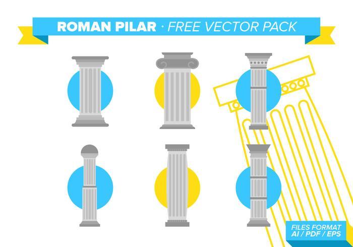 Pacote de vetores grátis pilar romano