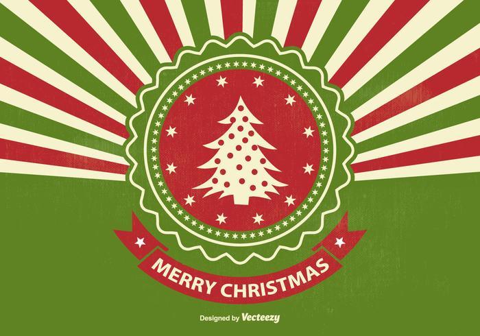 Ilustração retro do Natal do Sunburst do estilo retro