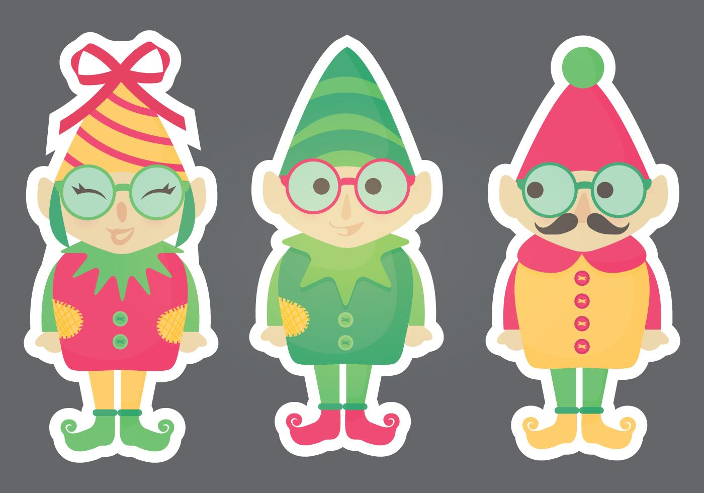 Vector Elf Stickers - Download Free Vector Art, Stock ...