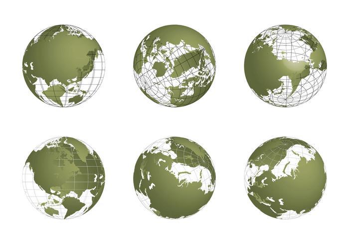 Free Globe Grid Vector set