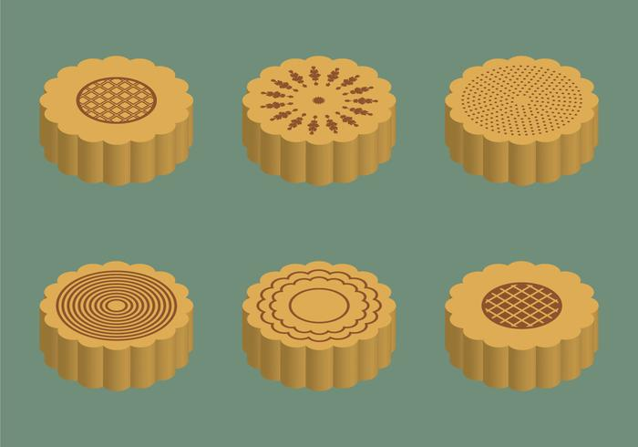 Free Mooncake Vector Illustration