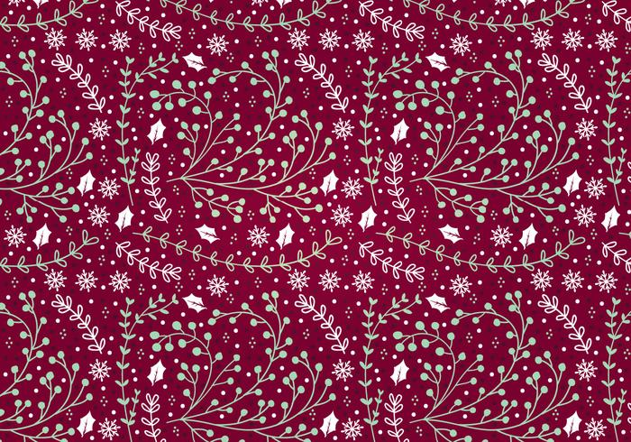 Hollly Vector Seamless Pattern