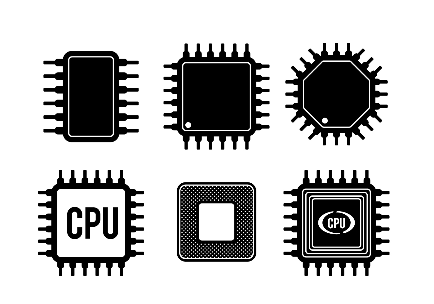 Cpu Free Vector Art 7883 Downloads Repair Of A Circuit Board Used In Pc Computer Royalty Clip