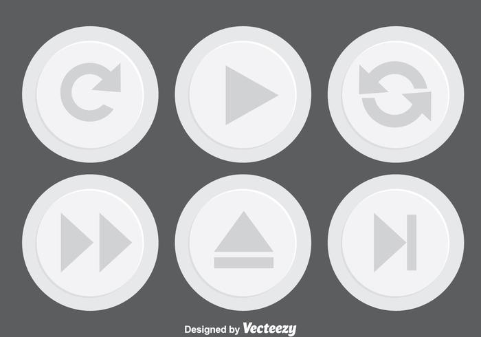 Light Gray Media Button