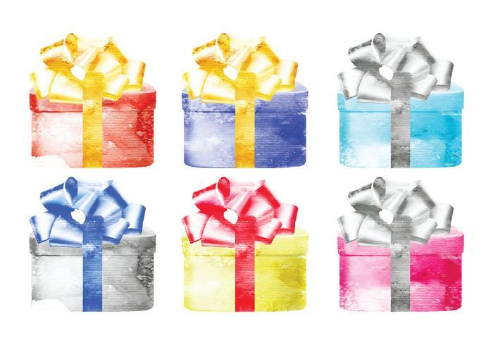 Vector Watercolor Presents