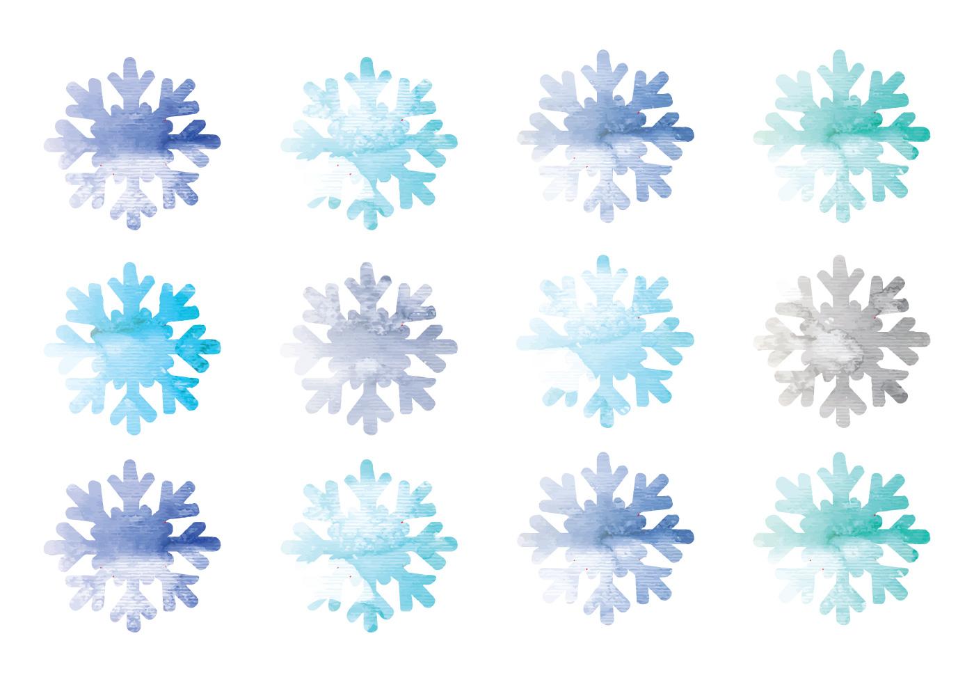 Vector Watercolor Snowflakes Download Free Vectors