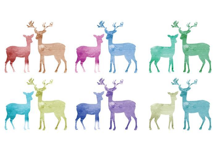 Vector Watercolor Deer