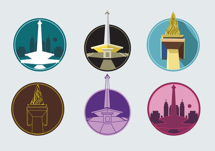 Monas Tower Icons