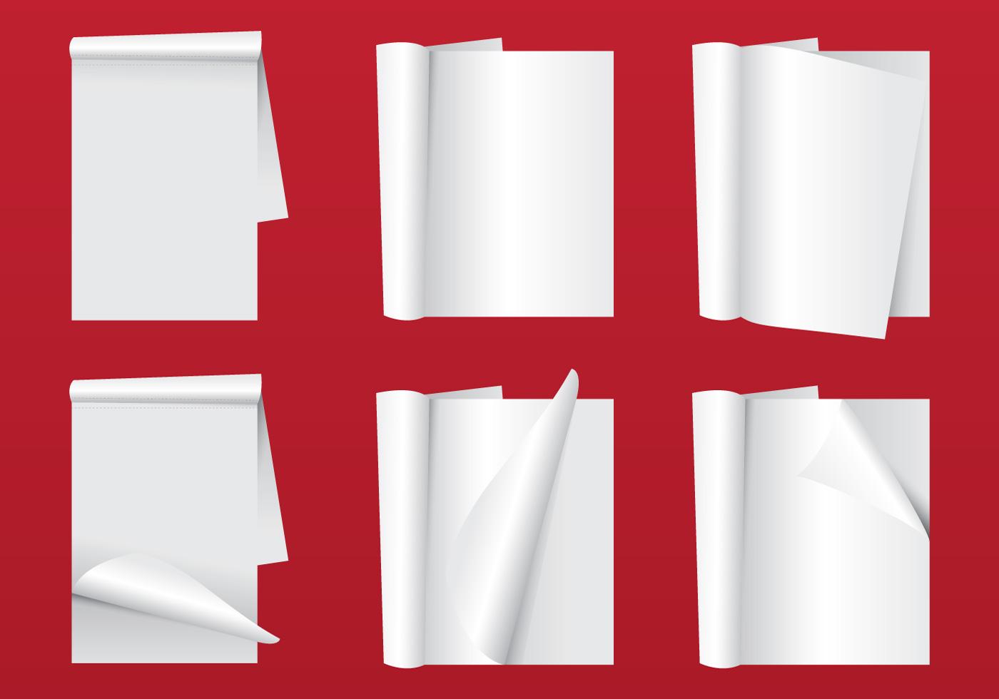 blank magazine page flip
