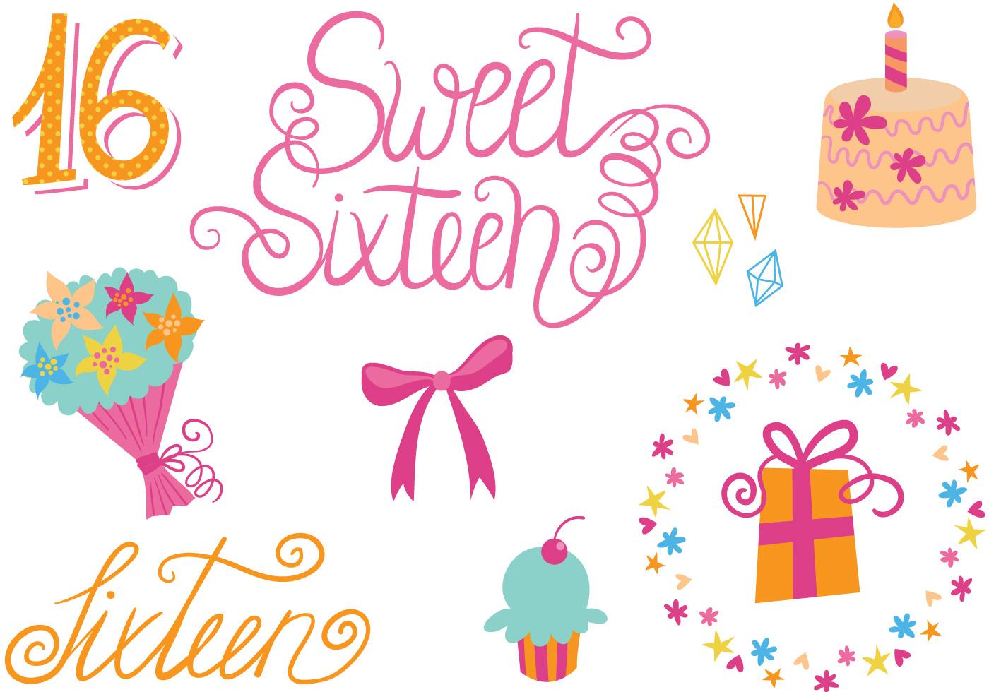 Free Sweet 16 Vectors - Download Free Vector Art, Stock ...