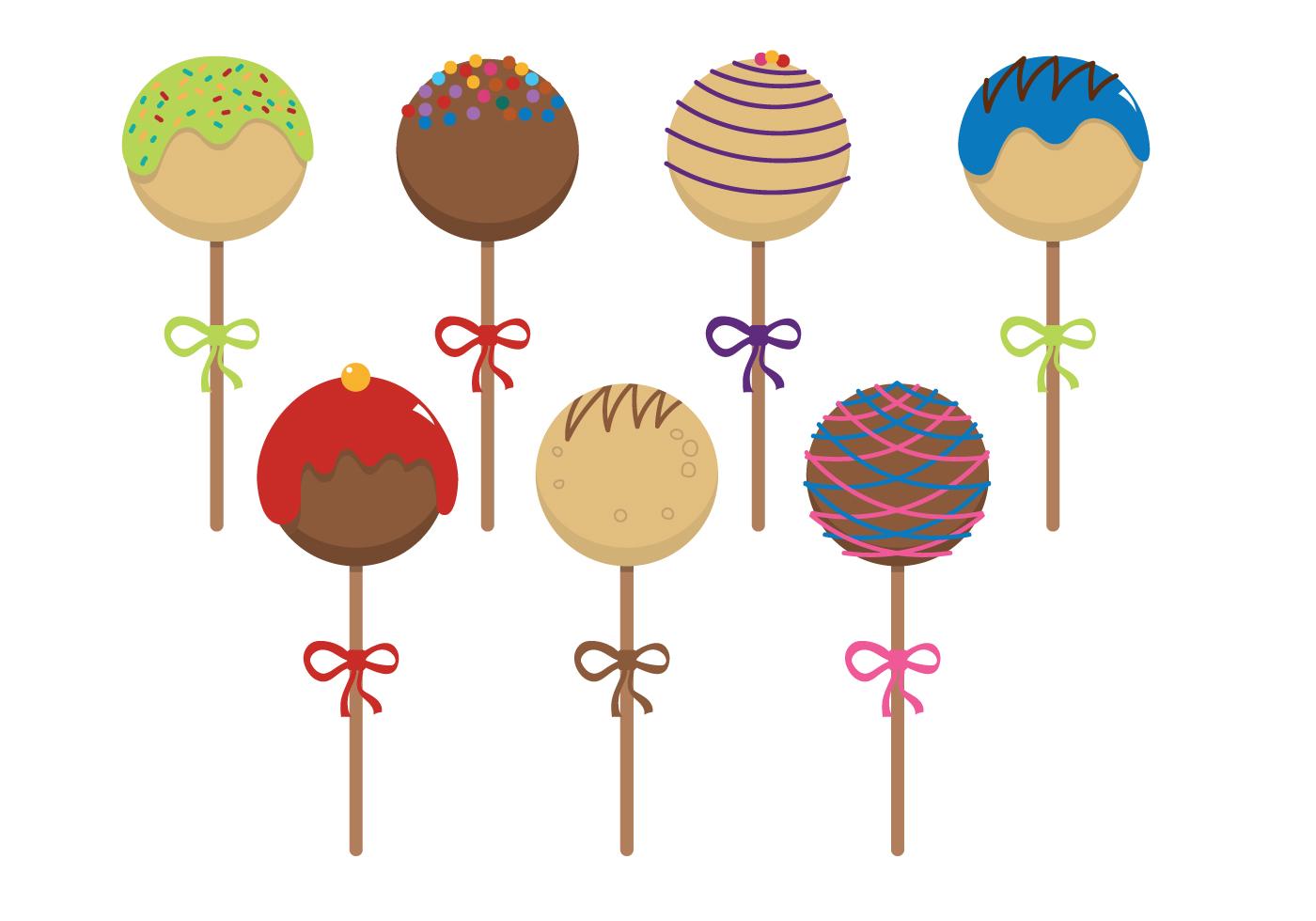 Cake Pop Clipart Free : Cake Pops Vector - Download Free Vector Art, Stock ...