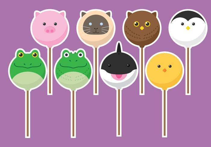 Estallidos de pastel de animales
