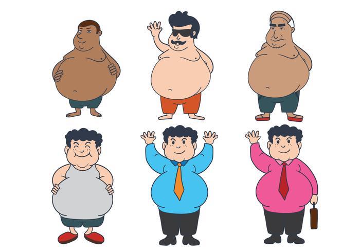 Fat Guy Vector