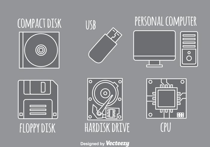 Computer Gray Icons