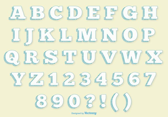 Retro Alphabet Set