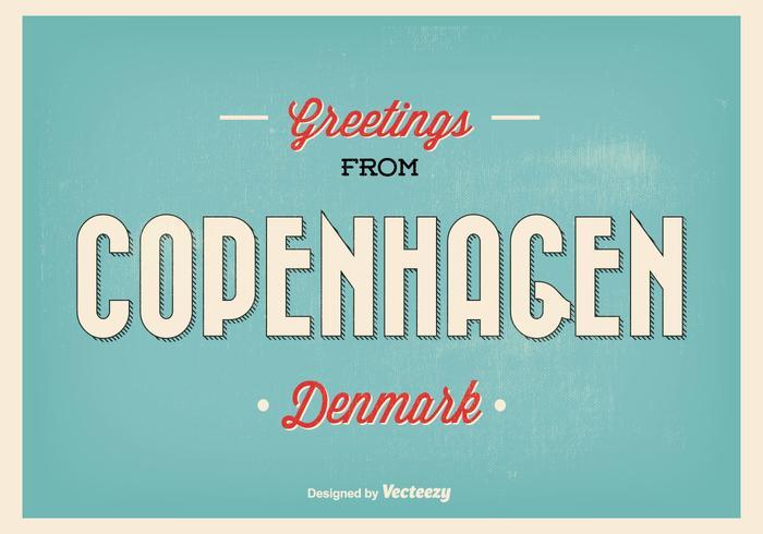 Retro Kopenhagen Groet Illustratie