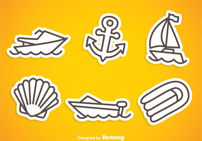 Nautica Gray Outline Icons