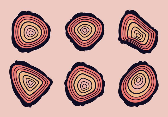 Free Tree Rings Vector Illustration #12