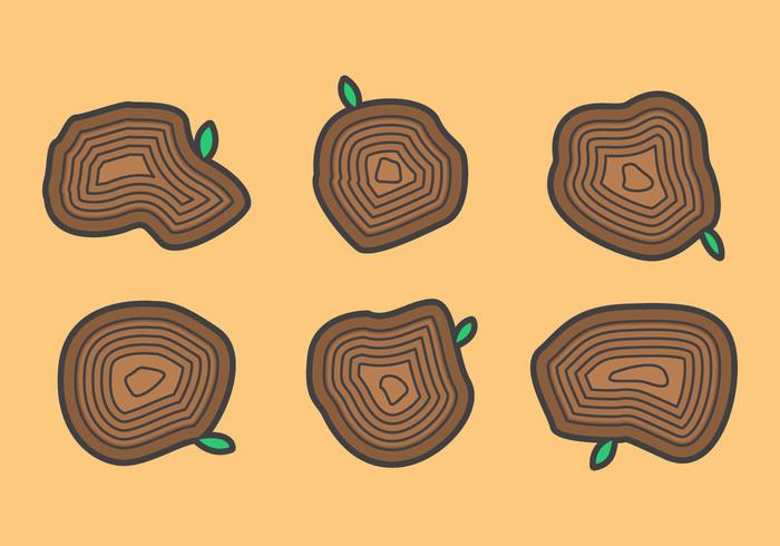 Free Tree Rings Vector Illustration #3