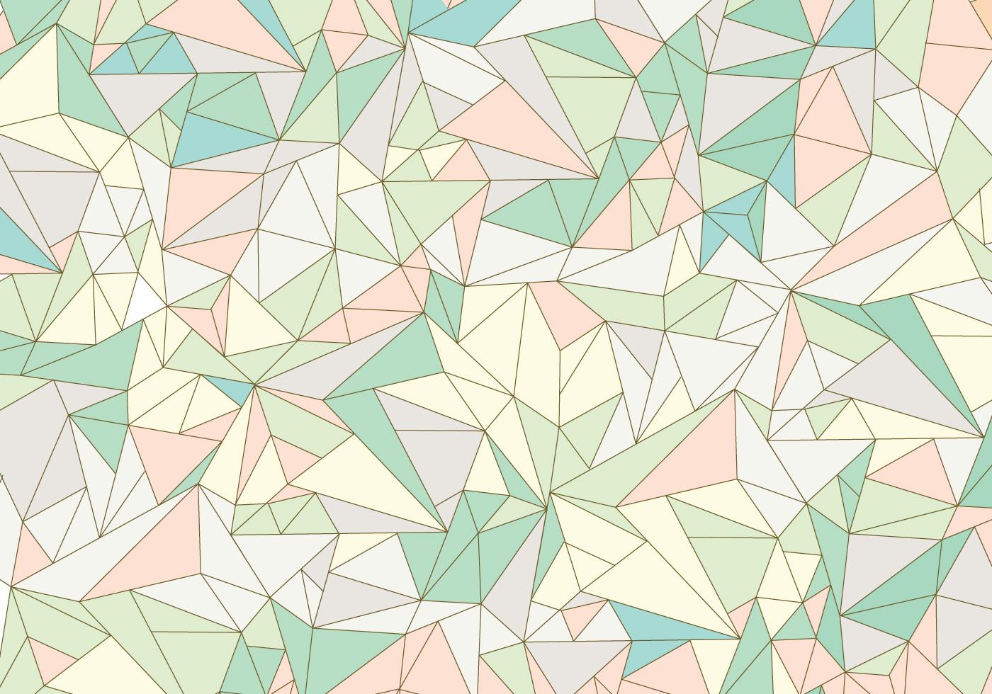 Pastel Abstract Gemstone Pattern