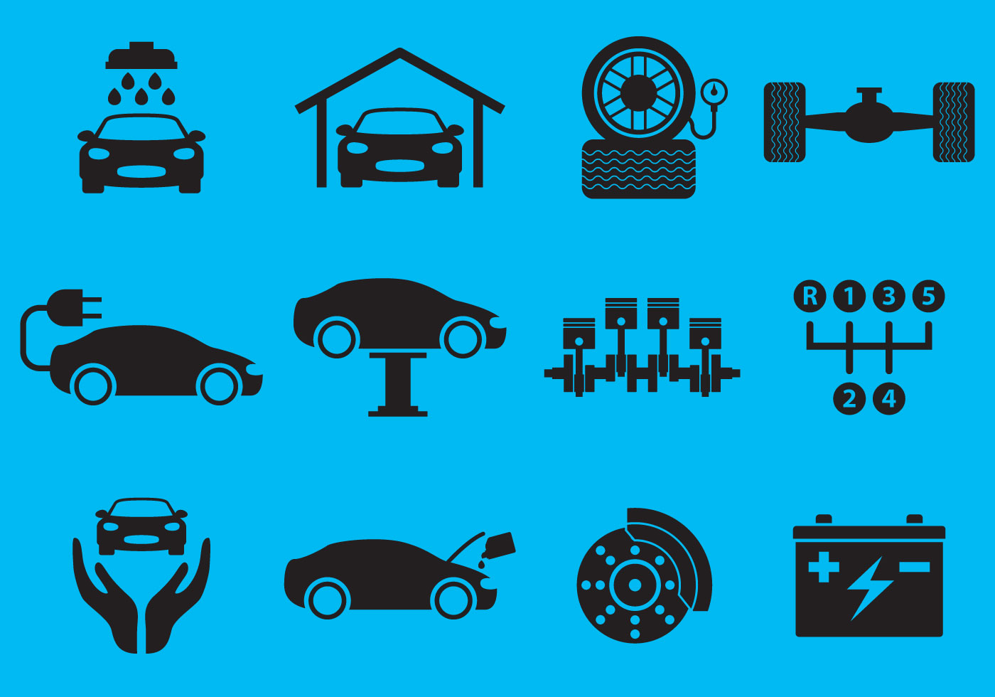 Car Service Vectors on Vector Download » Car Engine Piston Illustration