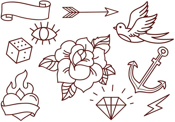 Free Old School Tattoos Vectors