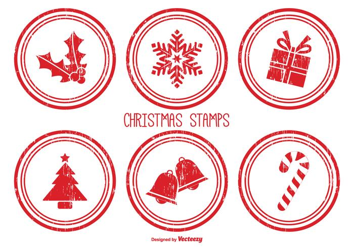 Distressed Christmas Postzegels
